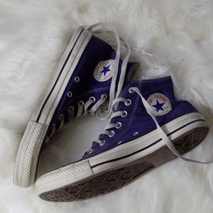 High top converse all stars navy blue size 7